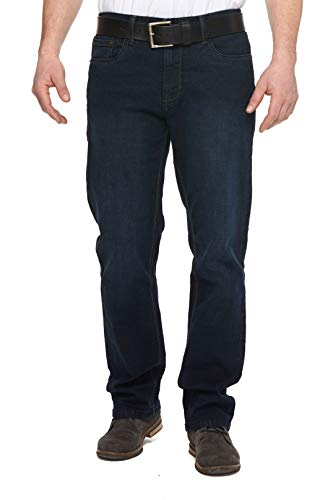 Urban Star Men's Relaxed Fit Straight Leg Jeans (Blue) 40W x 30L