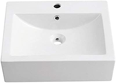 Decorative Oval Ceramic Bone 1495U-CBN DecoLav 1495U 18-3//4 Undermount Lavatory Sink