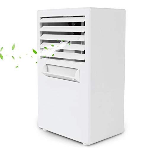 Ventilador de mano mini fan Ventilador eléctrico de escritorio de refrigeración por humidificación por pulverización de silencio multifunción, soporte de control de 3 velocidades, enchufe de la UE