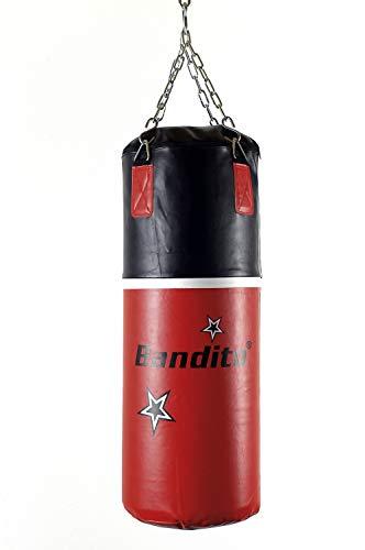 Bandito Boxsack Training, hochwertige schwere Kunstlederausführung, ca. 80 x 30 cm, Gewicht ca. 16kg