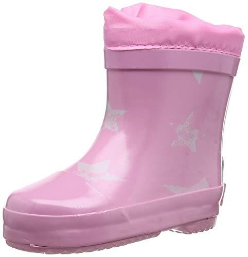 Playshoes Unisex-Kinder Short Wellies Warm Lining Stars Gummistiefel, Pink (Rosa 14), 24 EU