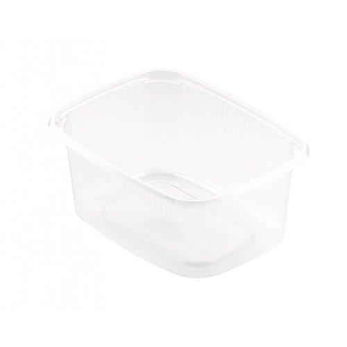 Duni 156430 Deli verpakking, Pp Tr, Rechthoek, 300 mL, Transparant (Pak van 1000)