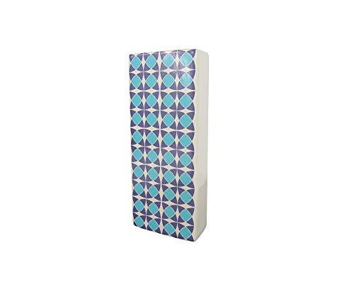 B&F Humificador para Radiador Cerámico con Diseño De Colores con Colgante En Aluminio/Evaporador De Agua para Radiador/Color Blanco 18cm x 8cm (Azul)