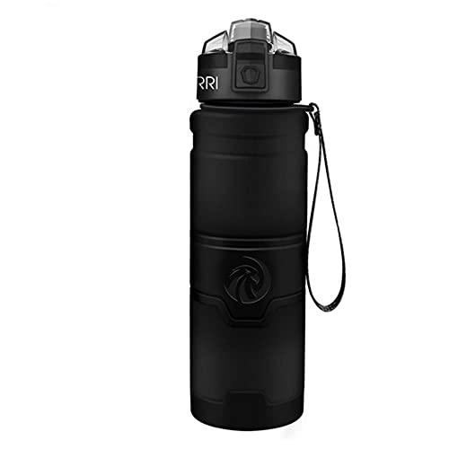 Borracce per lo sport Shaker per proteine Bicchieri a tenuta di movimento portatile Bicchieri per bevande My Drink Bottle BPA Free Viaggi all'aperto Campeggio Escursionismo-1000 ml, nero