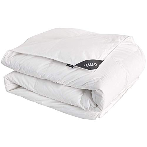 UMI. by Amazon Quilt White Goose Feather and Down Duvet, All Season, 10.5 Tog, Double Size 200x200cm, White