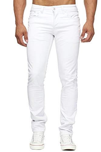 Herren Jeans Five-Pocket Style weiß H1689, Farben:Weiß, Größe Jeans:W29