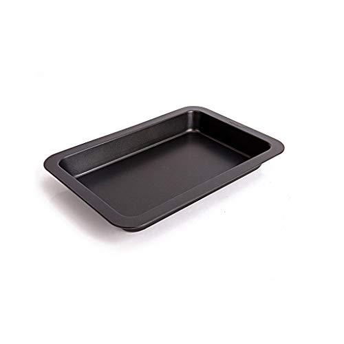 11 pouces en acier au carbone Brownie antiadhésif four à rôtir au four à fond des bacs à griller plat de barbecue plat, noir