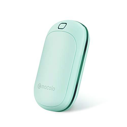 Calentadores de Manos USB Recargables 5200mAh y Mini Cargador portátil Banco de Energía Batería Externa de Alta Capacidad Doble Lado Calentadores para Mujeres Hombre en Invierno (Cereste)