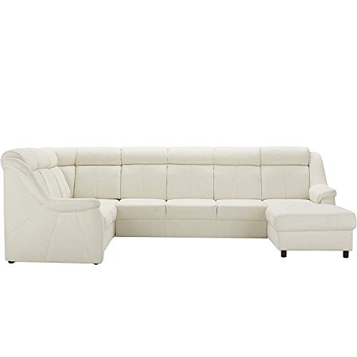 Cavadore Wohnlandschaft Beata mit Relaxfunktion / Sofa U-Form,Mikrofaser beige, 315 x 98 x 211 cm
