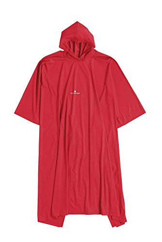 Ferrino 65161Arr Poncho, Unisex Adulto, Rojo, Talla Única