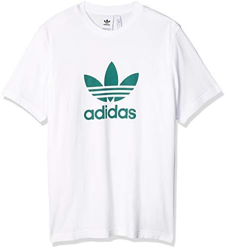 adidas Trefoil T-Shirt, Uomo, White/Future Hydro F10, L