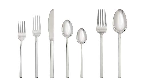 Fortessa Theo 42 Piece Flatware Set, Stainless Steel -  42PPS-500.05