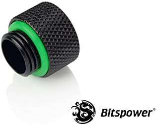 Bitspower G1//4 10mm Male to Female Fitting Deluxe White