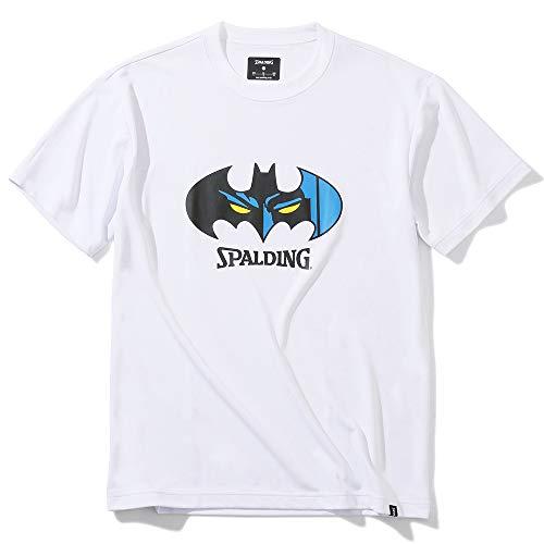 SPALDING(スポルディング) バスケットボール Tシャツ バットマン フェイス SMT200470 ホワイト XLサイズ バスケ バスケット