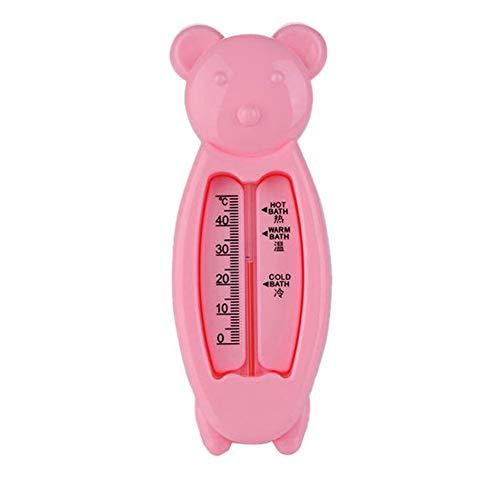 Termómetro de agua para bebé, juguete inteligente con forma de oso, juguete de baño para niños, temperatura precisa, color rosa