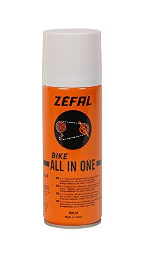 ZEFAL All in One Dégraissant Dégrippant Nettoyant et Lubrifiant Biodégradable-Nettoyage et Protection Vélo Cyclisme, Orange, 150 ML