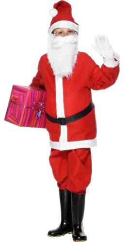 Fancy Me Garçons Enfants PÈRE NOËL PÈRE NOËL Costume Noel Cadeau Costume déguisement - Rouge, Rouge, 7-9 Years