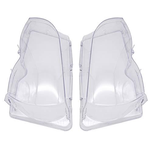 N\A Scheinwerferglas, Automobil-Scheinwerferkopf Lichtlinse Auto-Produkte for E46 2002-2006 Autoscheinwerfer Glasabdeckung klar transparent (Farbe : Left)