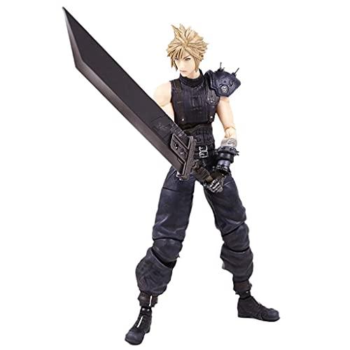 siyushop Finale Fantasy Cloud Streit Wiedergabedunst Kai Action Figure - Claude Action Figure - Ausgestattet Mit Waffen Und Austauschbaren Händen - High 27cm (Nichtoriginalversion)