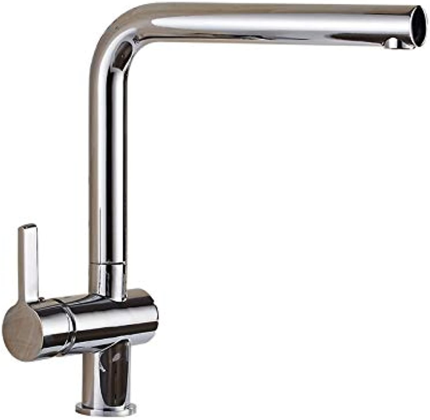 Decorry Kitchen Faucet Chrome Brass Kitchen Faucet Single Handle Single Hole Kitchen Sink Mixer Tap Hot Cold Deck Mounted Crane Torneira