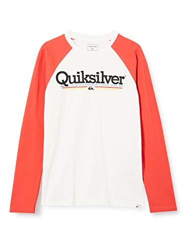 Quiksilver Tropical Lines - Camiseta De Manga Larga para Niños 8-16 Camiseta De Manga Larga, Niños, Snow White, S/10