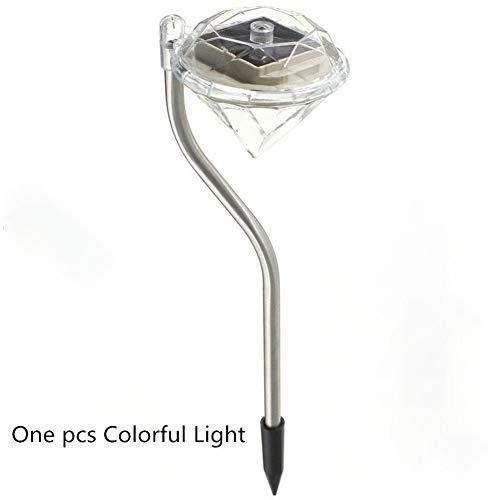 GZSC Led-tuinverlichting op zonne-energie, kleurrijke outdoor led-lampen, pad, stake decoratie, diamanten, gazonlamp