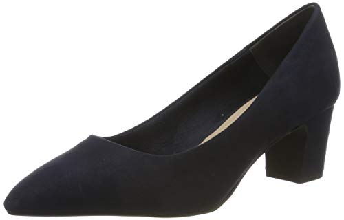 Tamaris Damen 1-1-22423-23 Pumps, Blau (Navy 805), 39 EU