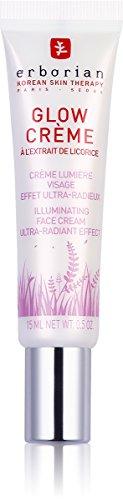 Erborian Glow Crème, Base de Teint Illuminatrice, Crème Lumière à Effet Ultra-Radieux, Soin du Visage Coréen, Transparent, 15 ml