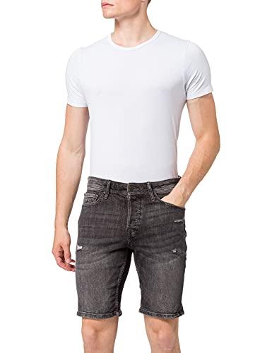 Jack & Jones JJIRICK Jjoriginal NA 410 Pantalones Cortos, Black Denim, S para Hombre