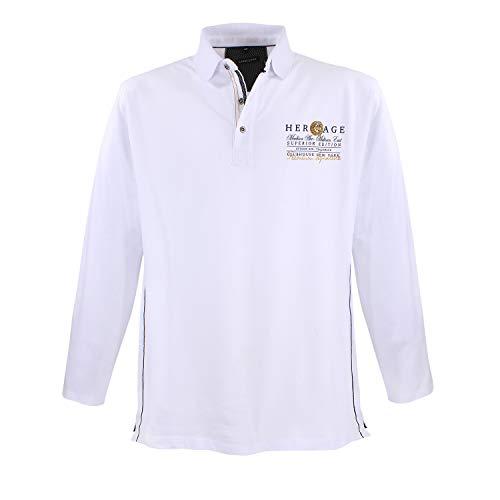 Lavecchia Men Shirt Long Arm White, Dimensione:7XL