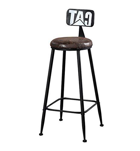 Dongy Sgabello da Bar Sgabello da Bar Sgabello da Bar Sgabello da BarSedie Alte Sgabello da Bar Sgabello da Lavoro for Il Tempo Libero Vintage Retro Sgabello da Bar Design (PU Seat) (Color : Black)