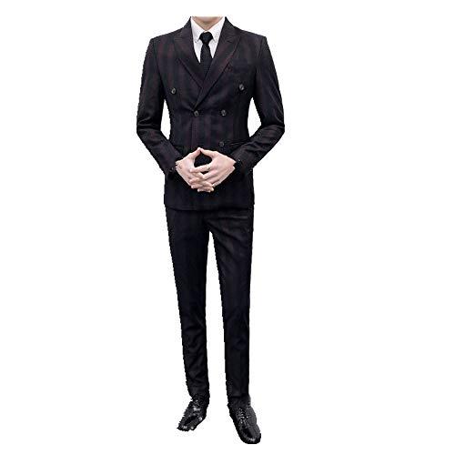 Traje de traje de tres piezas para hombre traje juvenil delgado vestido formal