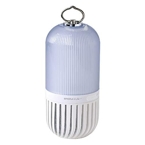 SPICE OF LIFE(スパイス) ゆらぎカプセルスピーカー ホワイト Bluetooth 防塵 防水 LED 充電式 CS2020WH 直径9.2×19.3cm
