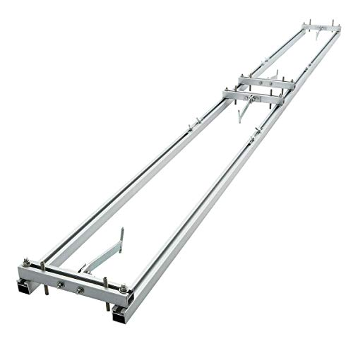 TC-Home Chainsaw Rail Mill Guide System 9FT Chainsaw Mill Guide Aluminum 3 Crossbar/Works with Saw Mill