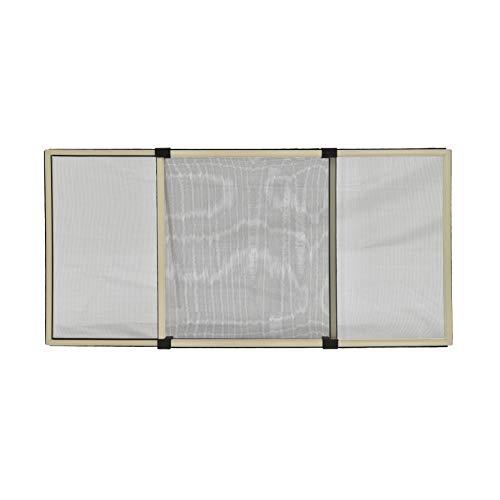 XONE Zanzariera Estensibile Bianco Crema, 40x50cm, Ribaltabile