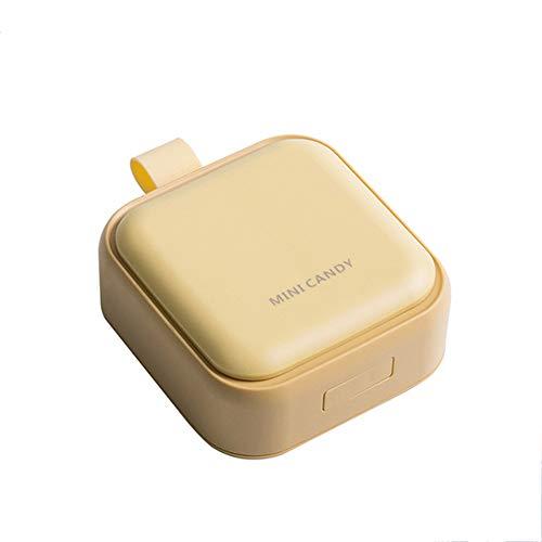 DSAN Pastillero portátil, organizador de medicamentos, con 4 compartimentos herméticos, para tus píldoras, medicamentos, suplementos, vitaminas y aceites de pescado