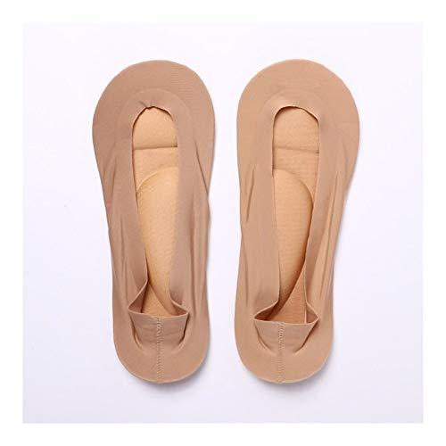 QWERBAM Barco 3D Mujeres pegan la Silicona Antideslizante Tobillo Alivio del Dolor del calcetín del pie Ayuda de Arco de la Plantilla del Masaje con Hielo de Seda Calcetines