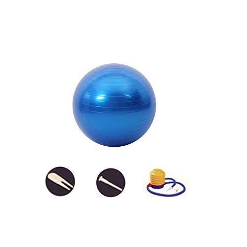 SENDILI Balón para Pilates y Yoga - Pelota Yoga Entrenamiento Coordinación Estática Corporaral, Equilibrio, Flexibilidad, Fuerza Muscular y Cardiovascular, Azul-5, 85CM