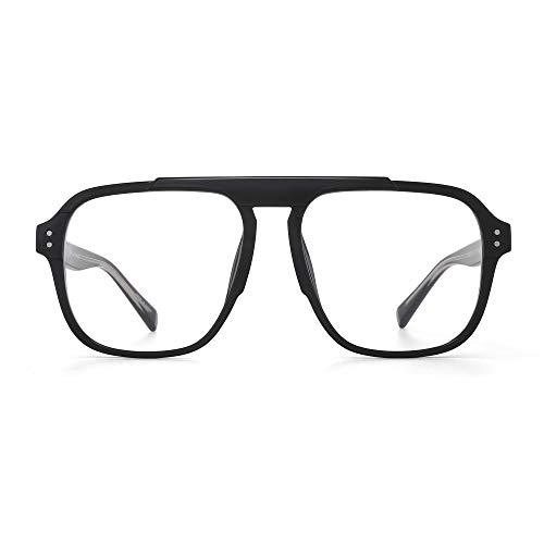 JIM HALO Blue Light Blocker Glasses Men Women Square Thick Frame Computer Glasses Black