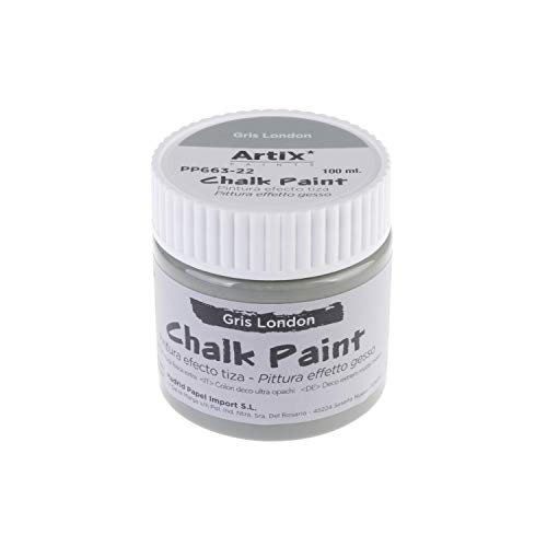 MP - Pintura Acrílica, Pintura Efecto Tiza, Chalk Paint Color Gris London -100 ml