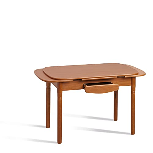 fanmuebles - Mesa de Cocina Extensible Koe - Cerezo, 100 x 60 cm.