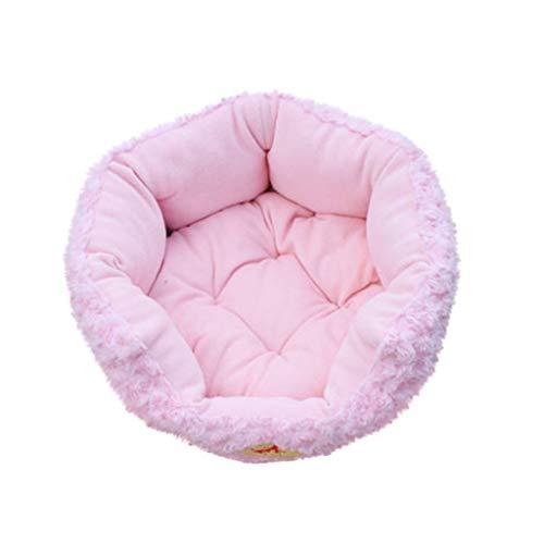 Kapian Deluxe Haustierbett für Katzen und kleine bis mittelgroße Hunde Kuschelig mit weichem Kissen. Rund oder oval Nisthöhle Bett Haustiere (Katzen Hunde) in Doughnut-Form Hundebett Hundekissen