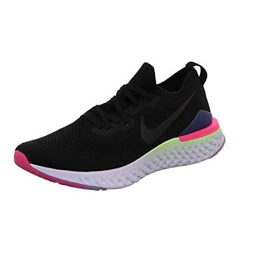Nike Epic React Flyknit 2 Men's Running Shoe Black/Black-Sapphire-Lime Blast 9.5