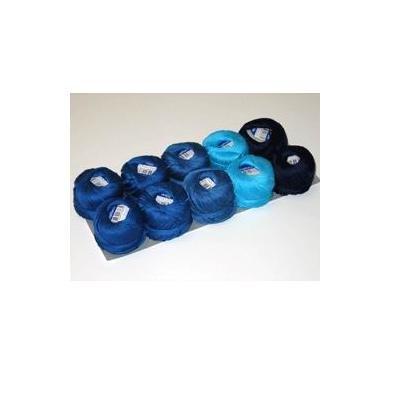 10er Set Stopftwist Stopfgarn Garn in verschiedenen Blautönen, 100{dd308fdcd0b16c0ef148e4cbb58bd7f23d48416f0d736f0851b25881af98cac8} Baumwolle