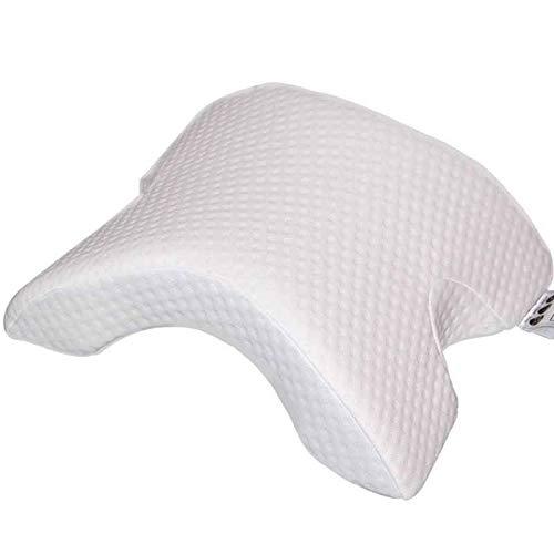 Almohada cervical en forma de U / almohadas de espuma viscoelástica / almohada de reposo de brazos de dormir laterales, antimanos entumecimiento y antironquidos, pareja de abrazadera/almohada de sueño