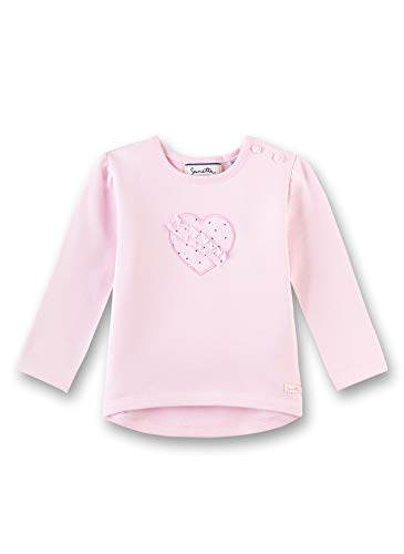 Sanetta Baby-Mädchen Sweatshirt, Rosa (Magnolie 3609), 80 (Herstellergröße: 080)