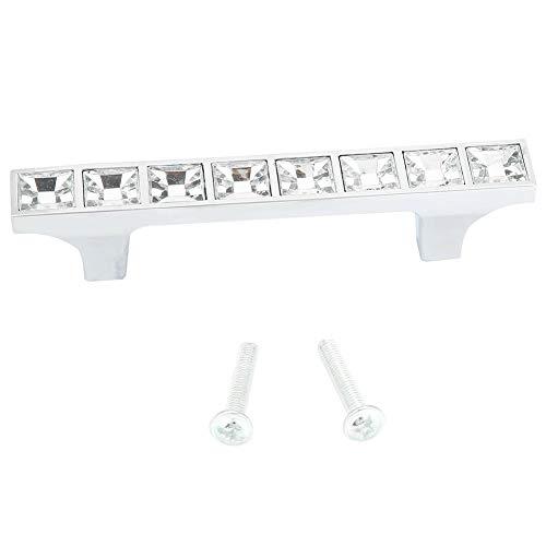 Hilitand 6715 Diamante Cristal Cristal Muebles Muebles Cajón de la Puerta Tirador de aleación de Zinc Manija de la Puerta Tiradores Perilla Manija de Diamante para gabinetes(64mm / 2.5in)
