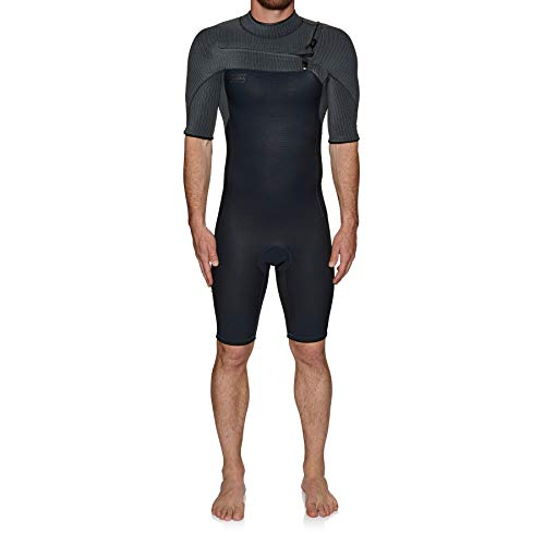 O';Neill Heren Hyperfreak 2mm Chest Zip GBS Shorty Wetsuit Abyss Graphite 5036 - Ademend
