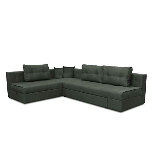 VitaliSpa Ecksofa Milton Schlaffunktion Couch Schlafsofa Bett Bettkasten Taschenfederkern Sofa XXL