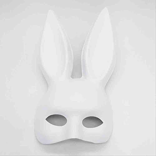 TERROR PARTY Halloween Nachtklub Stab Häschen Kugel halbes Gesicht Bunny Mask Performing Rabbit Ears